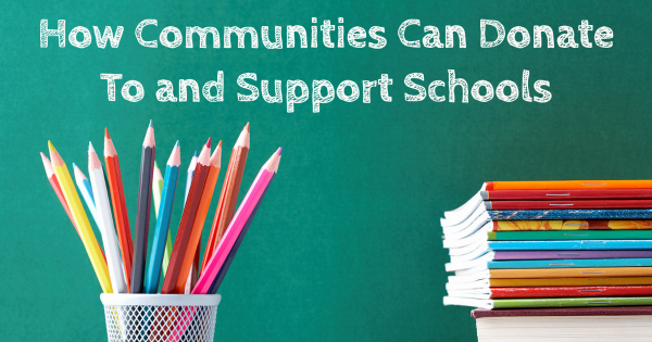 how to donate to local schools